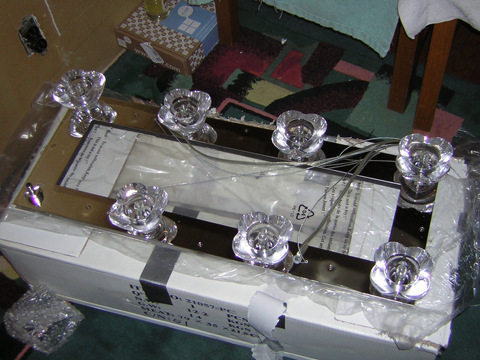 chandelier out of box