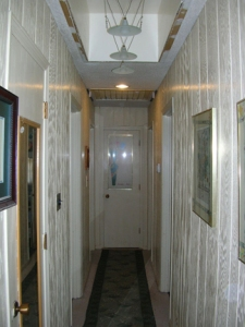 once the lights were installed, we were inspired to redo the hallway