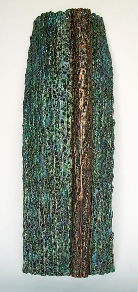 "Lace fabric, resin, acrylic │35.5 13 x 5 3/8"" │ 2013"