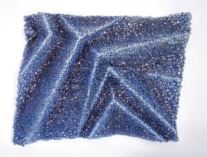"Lace fabric, resin, acrylic │26 x 34 x 3.5""│ 2016"