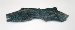 "Lace fabric, resin, metallic pigments │ 11.5 x 44 x 10"" │ 2013"
