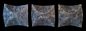 "Thread, resin, metallic wax finish │ 16.5 x 43 x 4"" │ 2013"