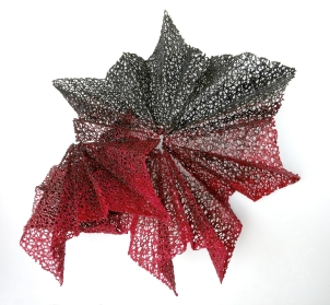"Lace fabric, resin, acrylic │32 x 34 x 16"" │ 2015"