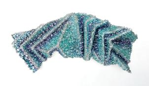 "Lace fabric, resin, acrylic │12 x 26 x 4.25"" │ 2015"