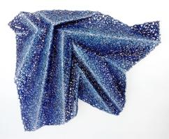 Lace fabric, resin, acrylic │27.5 x 31.5 x 6.25″│ 2015