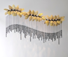 Thread, water-based resin, cord, wood, steel │ 6 x 9 x 2.5' │2018 │ Commissioned by St. Teresa's Academy, Kansas City, MO